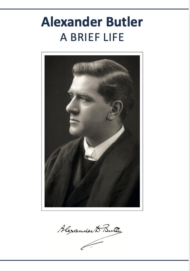 Alexander Butler: A Brief Life by Chris Bale